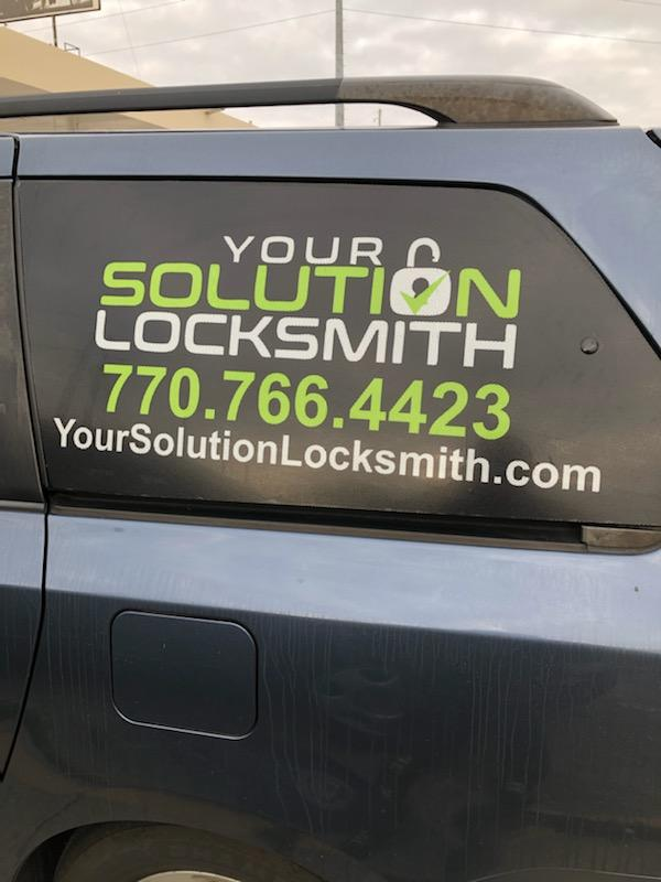 Your solution Locksmith Snellville car decal
